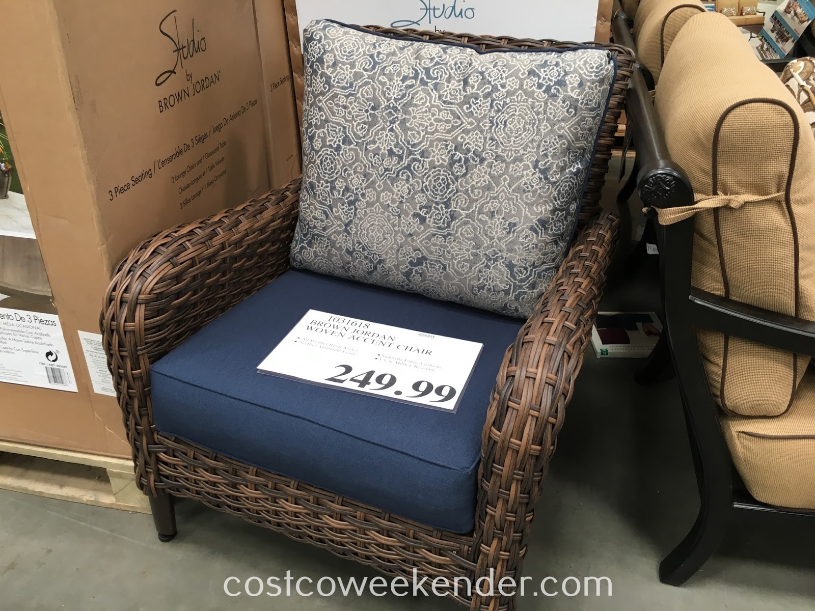 Have a seat outside on the Studio by Brown Jordan Woven Accent Chair