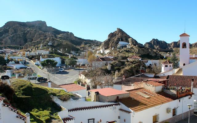 Barrio de las cuevas de Guadix