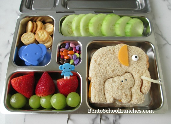 Elephant And Baby Elephant Bento Lunch In Planetbox