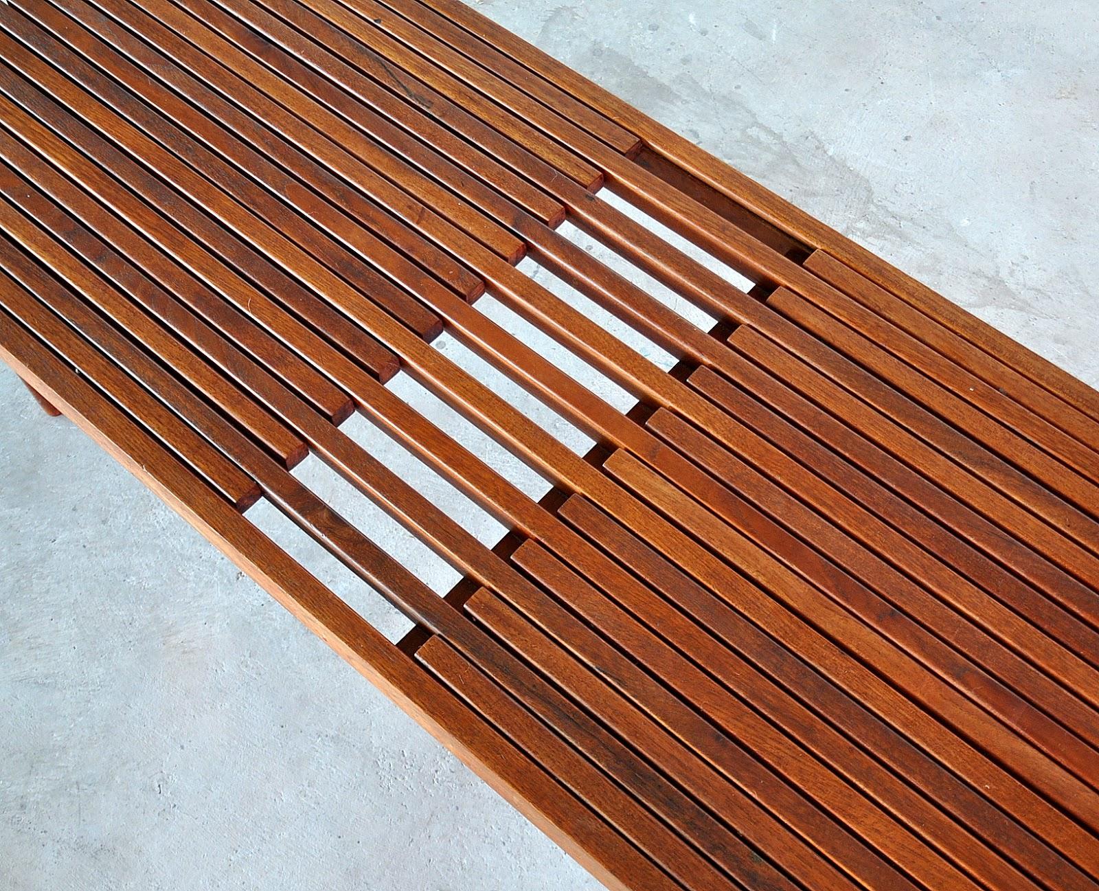 Select Modern Brown Saltman Expandable Teak Slat Bench Or Coffee Table