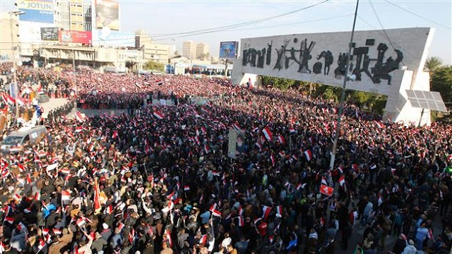 Rockets hit at Baghdad's Green Zone following deadly protests