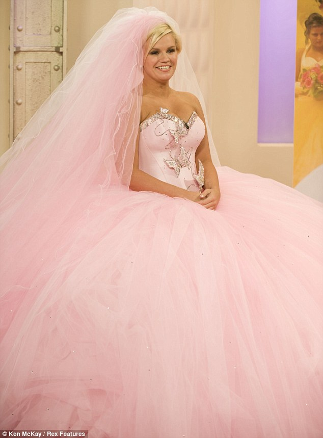Kerry Katona Tries On A Thelma Madine Designed Wedding Dress This Morning