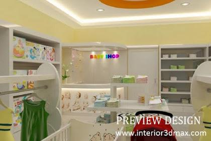 Jasa desain renovasi interior toko baju perlengkapan mainan bayi