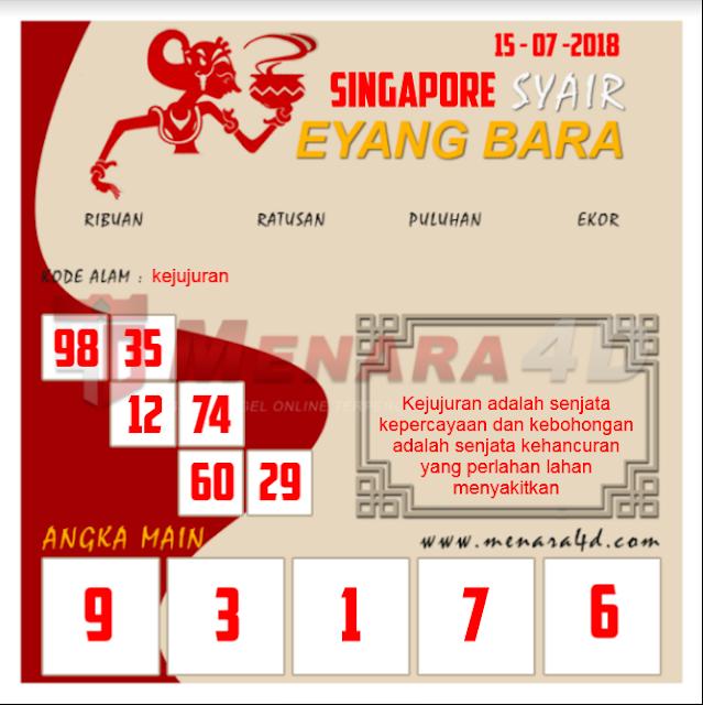 Kode Syair SGP 15-07-2018