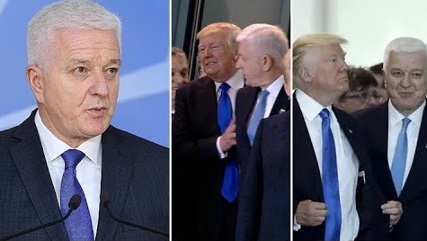 donald trump pushes montenegro pm
