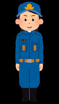 消防団員のイラスト(女性)