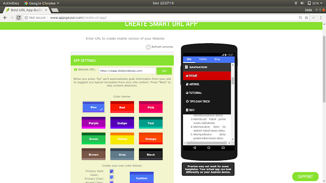 Cara mudah mengubah website menjadi aplikasi android