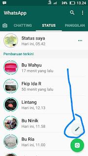 Cara Membuat Status Whatsapp Berwarna di Whatsapp Android