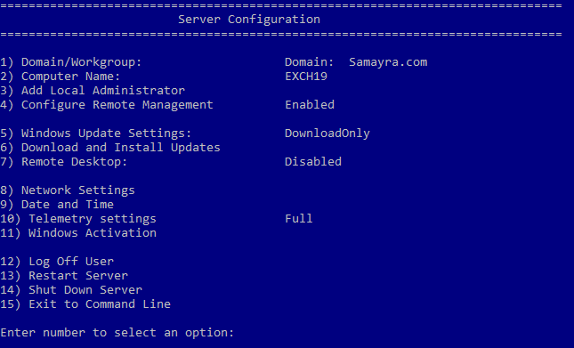 Install Exchange Server 2019 on Windows Server 2016 Core
