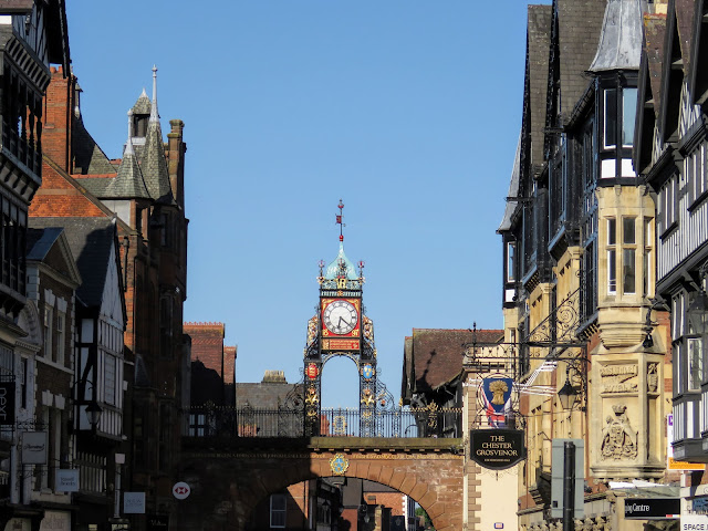 Check out the Medieval gates in Chester UK like Eastgate and Eastgate Clock