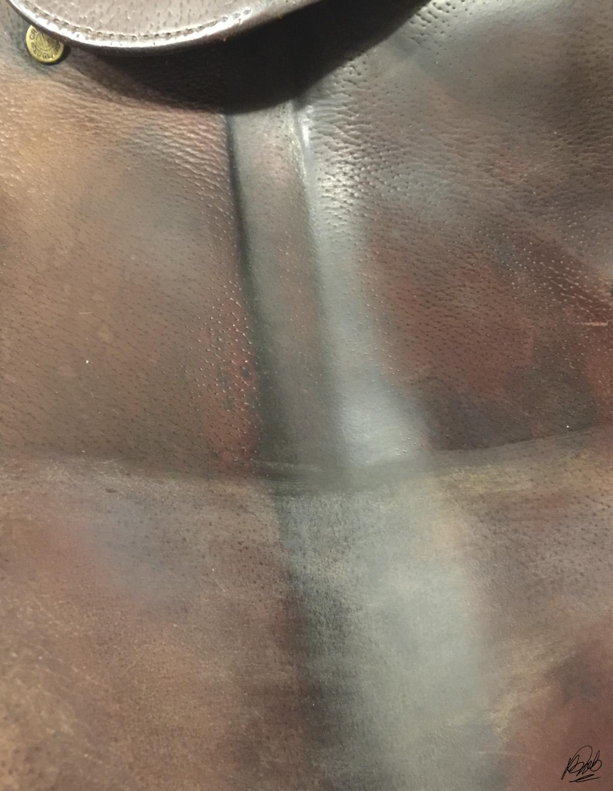 bottom half of flap treated with deglazer