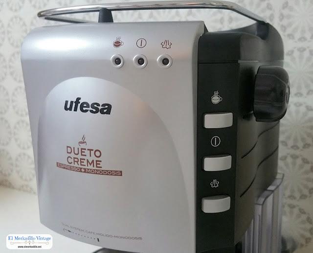 Cafetera Expresso UFESA Dueto Creme