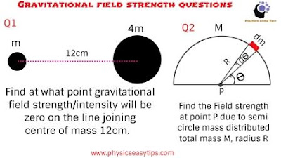 gravitational field and intensity,gravitational field questions