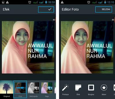 Cara Membuat Foto DP BBM Dengan Tulisan di Android