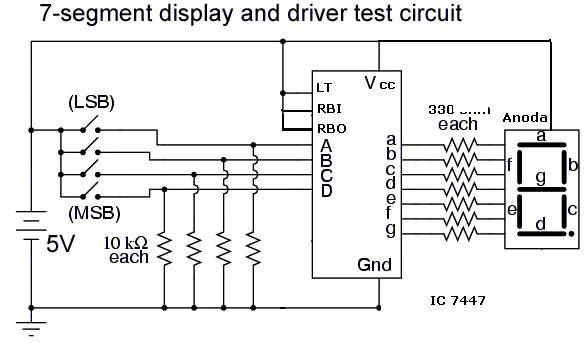 7 Segment Display Counter Circuit using IC 555 Timer IC