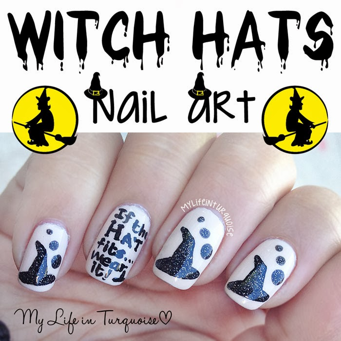 My Life in Turquoise: Halloween Nail Art - Witch Hats
