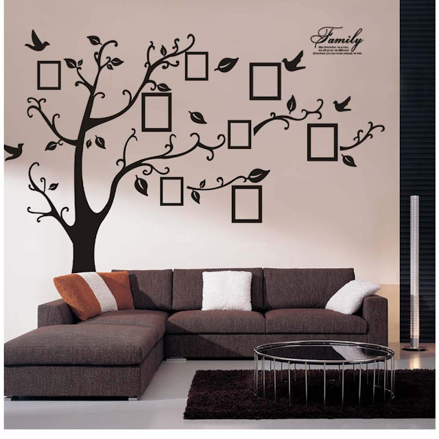Wociaosmd 3D DIY Birds Branch Tree PVC Wall Decals Adhesive Wall Stickers