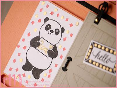 Stampin' Up! rosa Mädchen Kulmbach: Stamp A(r)ttack Blog Hop: Hurra, der Neue ist da! - Slider Card zu Neujahr mit Barn Door und Party-Pandas