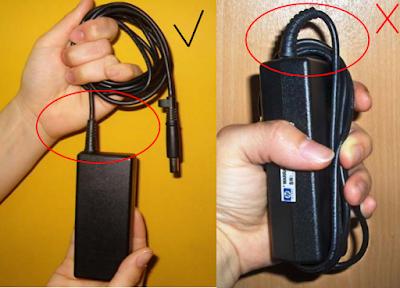 Gulung baterai seperti ini agar kabelnya tidak terputus