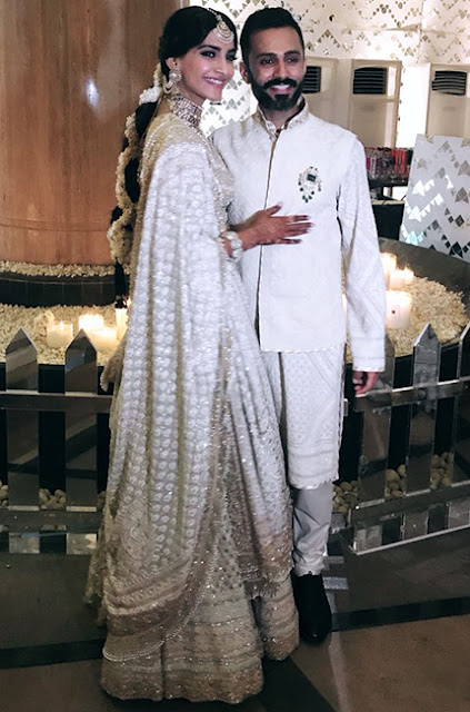 sonam kapoor and anand ahuja at their mehendi & sangeet ceremony