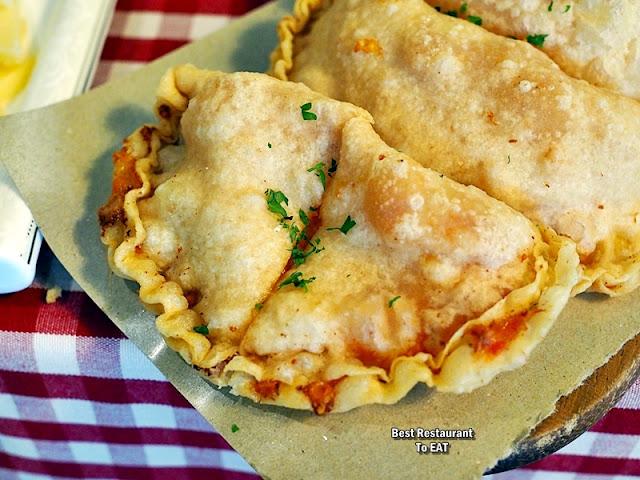 PASSIONE RISTORANTE ITALIANO Menu - Panzerotti Fritti - Pizza Dough With Honey Ham, Mushroom & Mozzarella