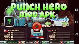 Punch Hero Mod Apk Offline v1.3.8 Terbaru (Unlimited Money)