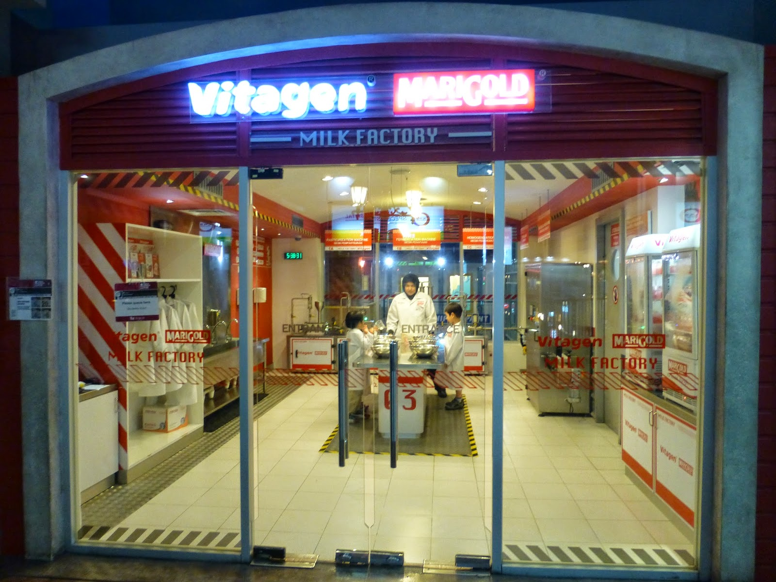 Family Fecs Kidzania Edu Theme Park Suplement Kidzos To Drink After Completion You Are Also Paid At This Station Our Little Loved It So Much The Vitagen He Did Activity Twice