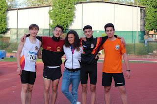 La staffetta 4x100 Cadetti con: Frascarelli-Grieco-Amicizia-Rosu