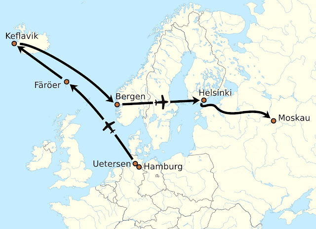 Flight path.