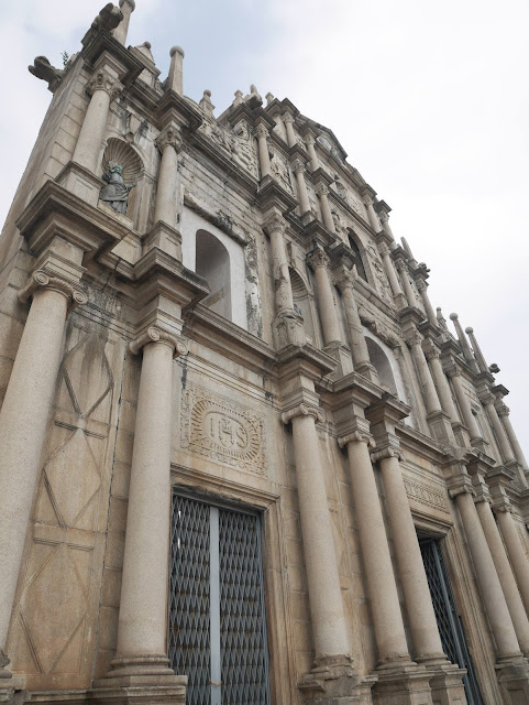 the facade of the ruins of st. paul's in Macau
