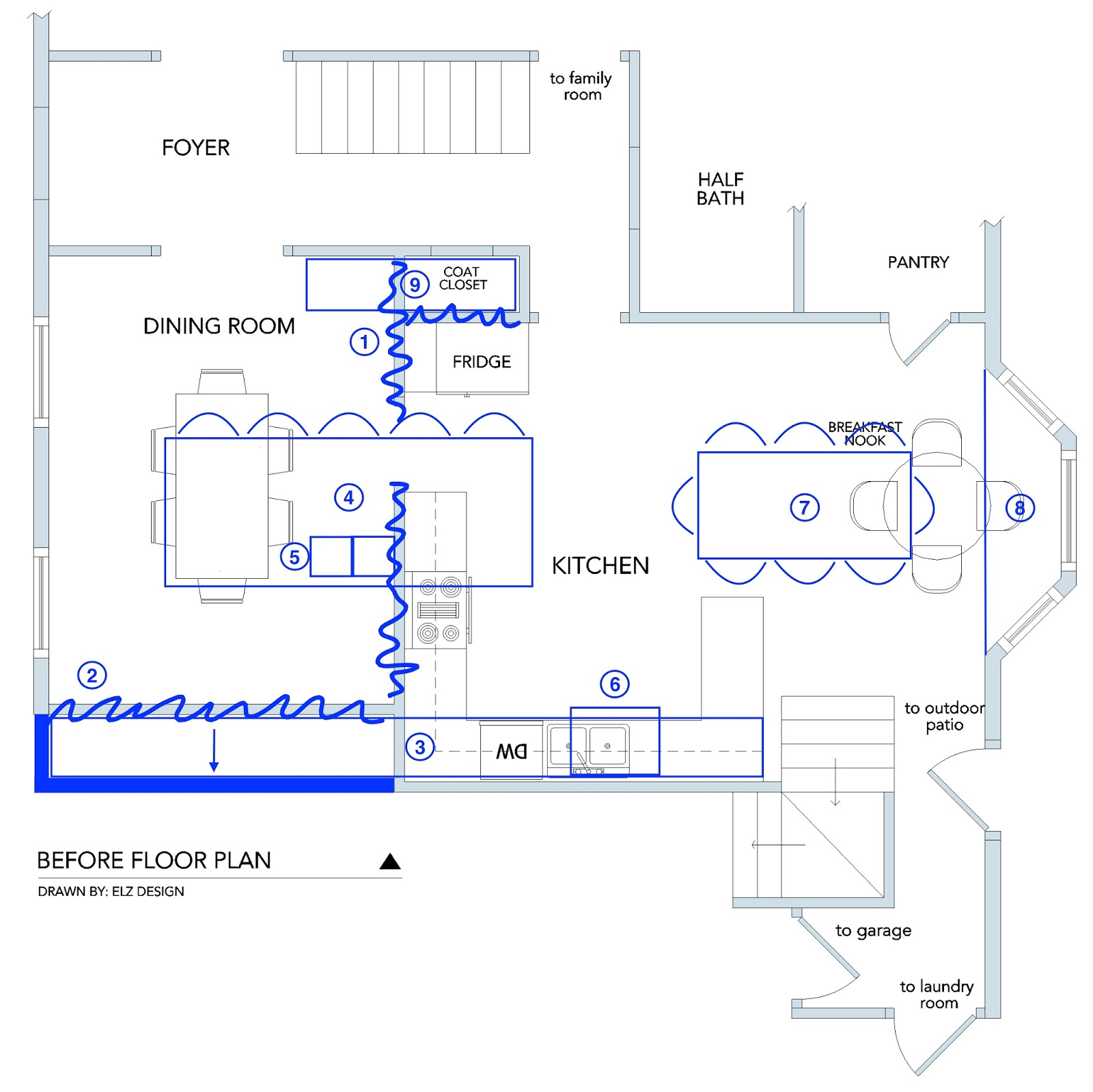 Remove Wall Separating Kitchen And Dining Room To Open The Kitchen Up And Create More Space 2 Push Back Dining Room Wall To Make Even With Kitchen Wall