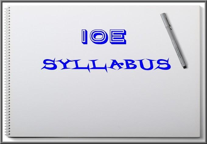 IOE Syllabus