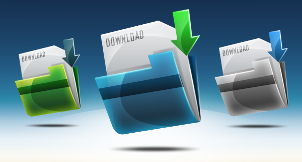 Icon Folder Download