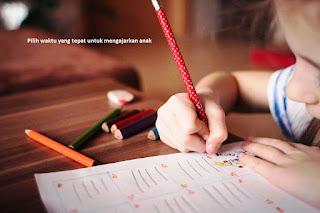 Waktu yang baik mengajarkan anak