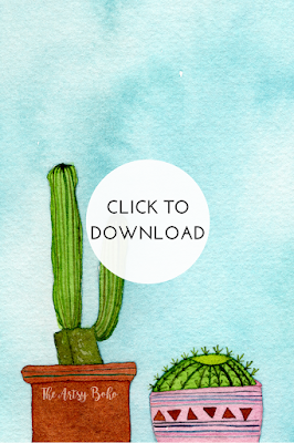 Dress your Tech Cacti Wallpaper by The Artsy Boho