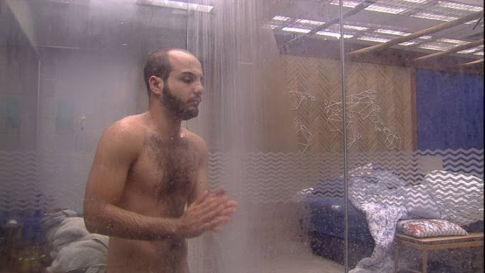 BBB18: Vaza na web vídeo explícito de Mahmoud tomando banho pelado