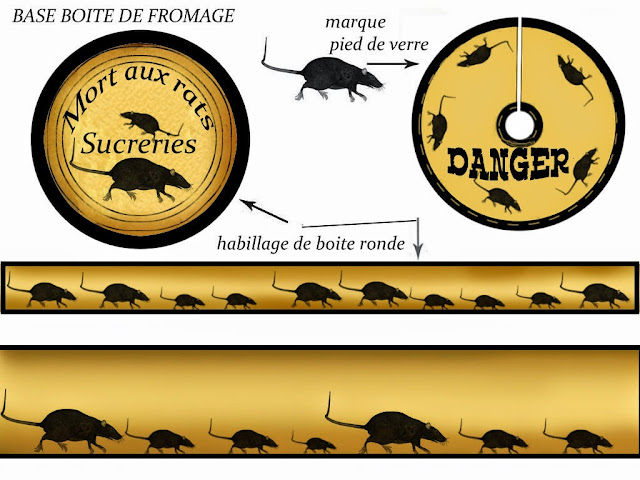Toppers o Etiquetas de Murciélagos, Ratones y Gatos imprimir gratis.