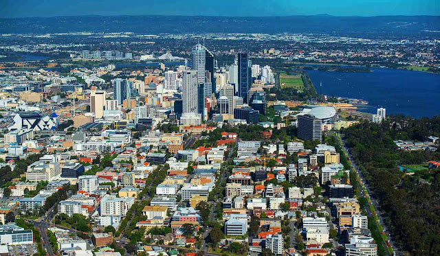 perth city from west