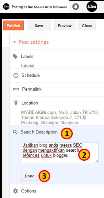 Settings Search Preferences Description Blog Post