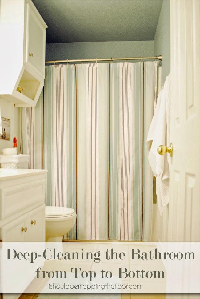 Bathroom Deep Cleaning Checklist: Deep Cleaning The Bathroom {Deep Cleaning Zone By Zone