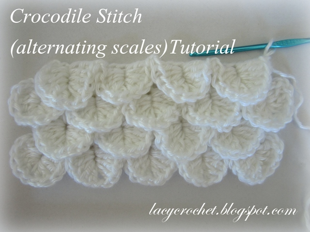 Lacy crochet crocodile stitch alternating scales tutorial besides once i have the pattern all written out and photographed it will be much easier for me to adjust it for a complete project pattern if i get dt1010fo