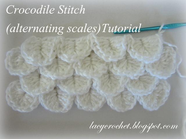Lacy Crochet Crocodile Stitch Alternating Scales Tutorial