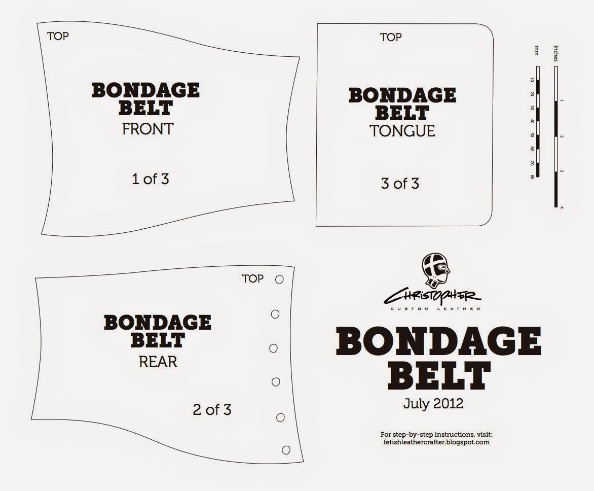 A Fetish Leathercrafters Journal Laced Bondage Belt Pattern