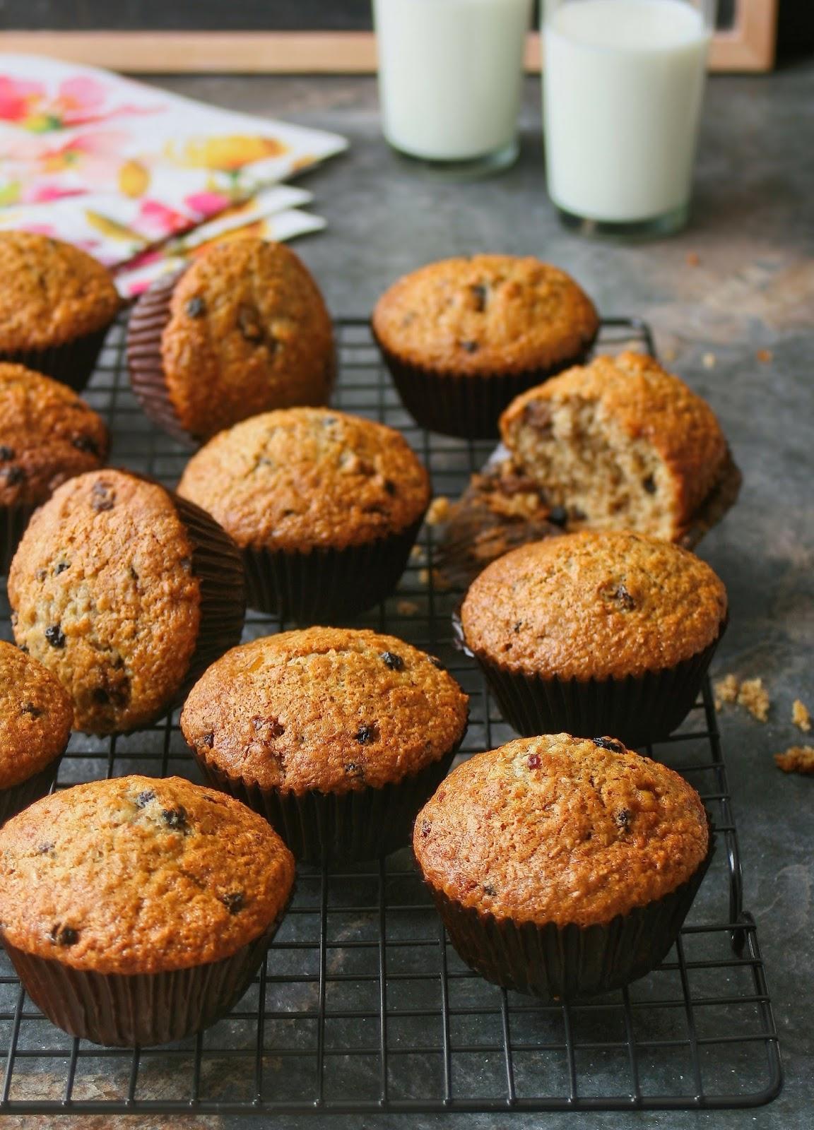 Lunchbox ideas for kids, bran muffins.