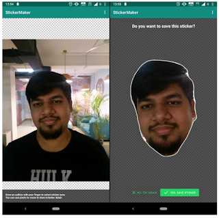 Cara membuat dan mengirim stiker wajah anda di whatsapp