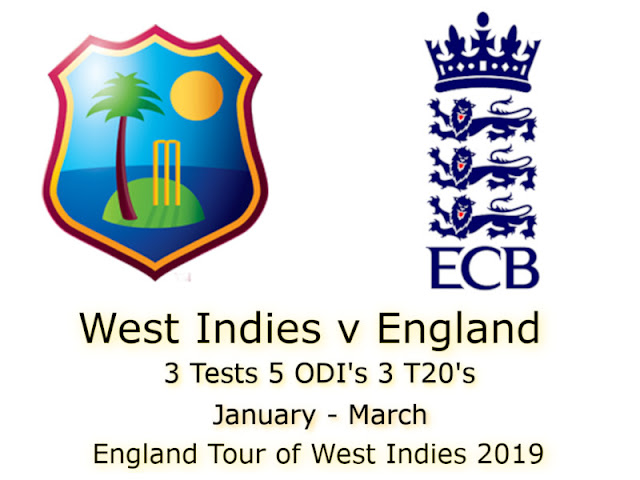 England tour of West Indies 2019 Schedule, Squads | Eng vs Wi 2019 Team Captain and Players ESPNcricinfo, Cricbuzz, Wikipedia, International Matches Time Table.