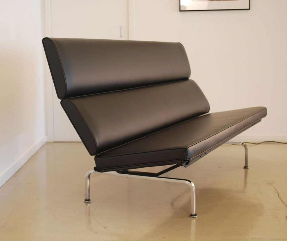 eames sofa compact white cotton slipcover for classic design before after july 25 2012