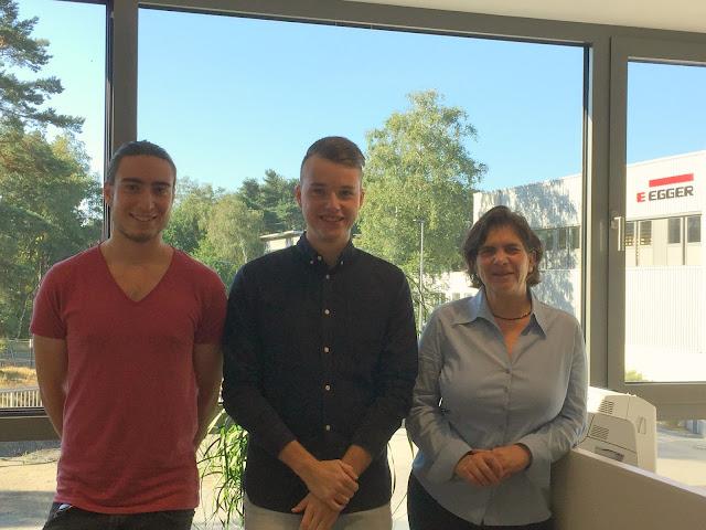 Gian und Jesko im Interview mit unserer kaufmännischen Werksleiterin Andrea Oldenburg-Zillig