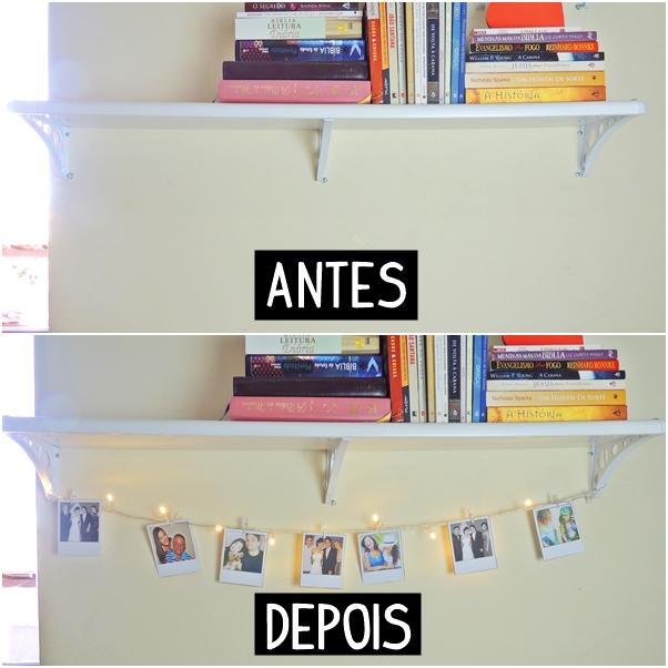 Como fazer varal de fotos polaroid com luzes