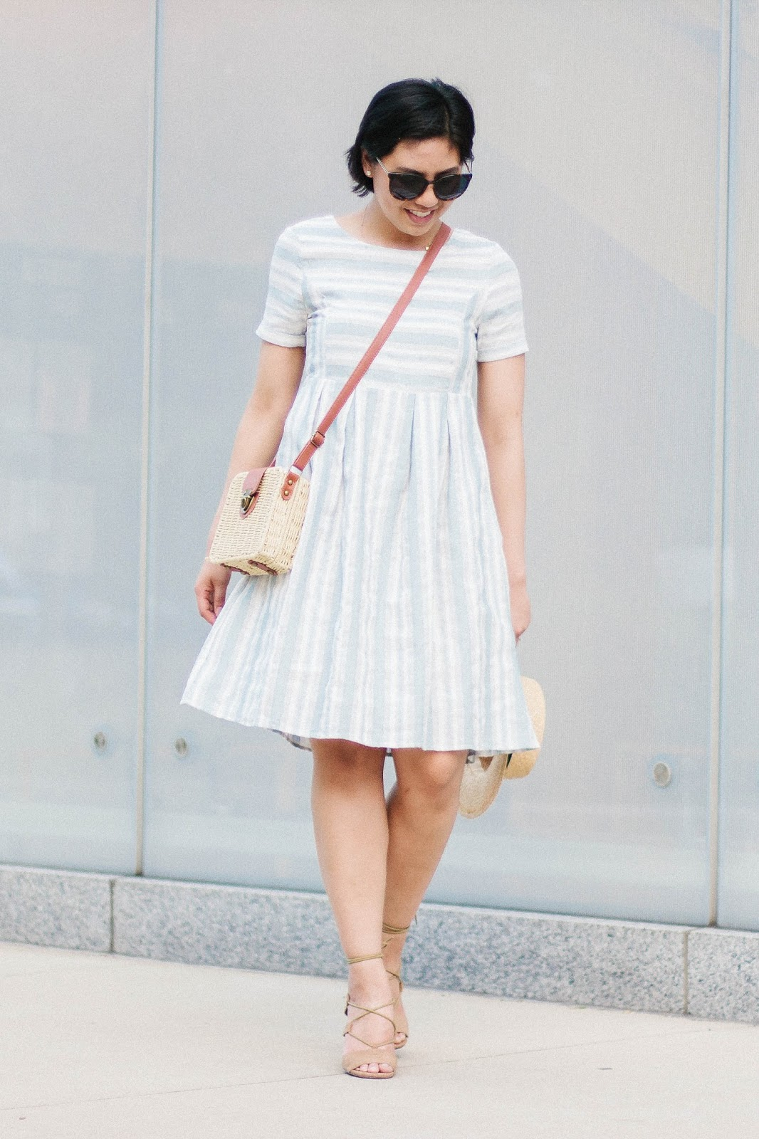 Striped Midi Dress for the Summer. Versatile dress for the Summer.